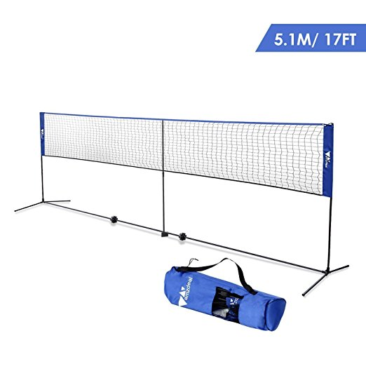 Normally $70, this portable badminton and volleyball net is 20 percent off with this code (Photo via Amazon)