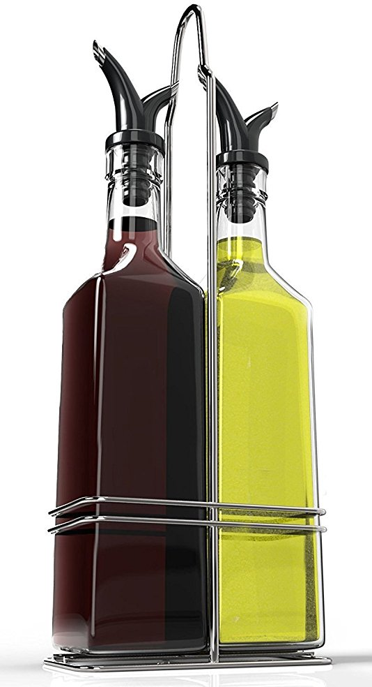 Normally $40, this oil and vinegar bottle set is 75 percent off today (Photo via Amazon)