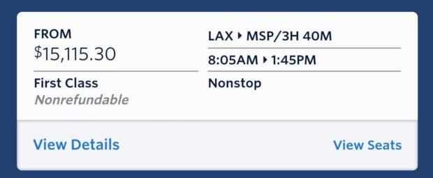Delta first class flight