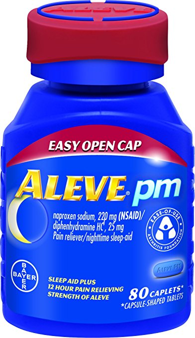 Normally $14, Aleve PM is 37 percent off today (Photo via Amazon)