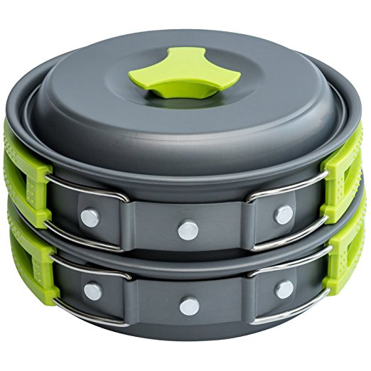 Normally $70, this 10-piece camping cookset is 77 percent off today (Photo via Amazon)