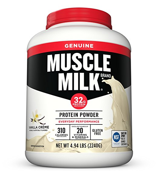 Normally $48, this Muscle Milk protein powder is 35 percent off today (Photo via Amazon)