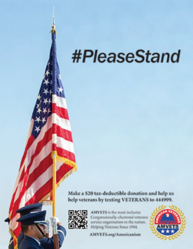 #PleaseStand Super Bowl Ad (courtesy: AMVETS)