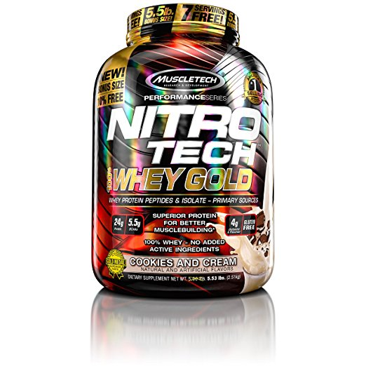 Normally $54, this whey protein powder is 30 percent off today (Photo via Amazon)