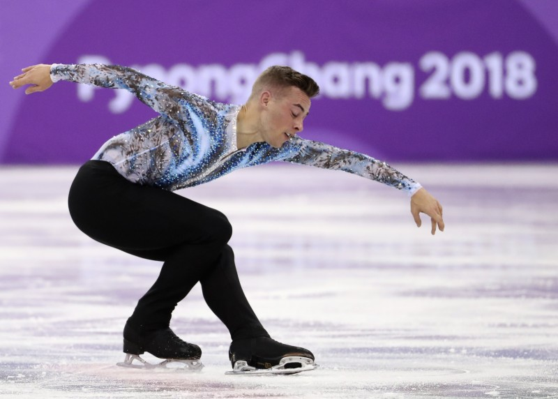 Figure Skating – Pyeongchang 2018 Winter Olympics – Team Event Men's Single Skating Free Skating competition final – Gangneung Ice Arena - Gangneung, South Korea – February 12, 2018 - Adam Rippon of the U.S. in action. REUTERS/Lucy Nicholson