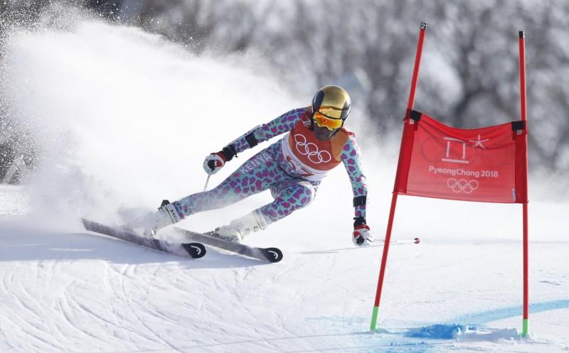 Alpine Skiing – Pyeongchang 2018 Winter Olympics – Women's Giant Slalom – Yongpyong Alpine Centre - Pyeongchang, South Korea – February 15, 2018 - Sabrina Simader of Kenya competes. REUTERS/Christian Hartmann
