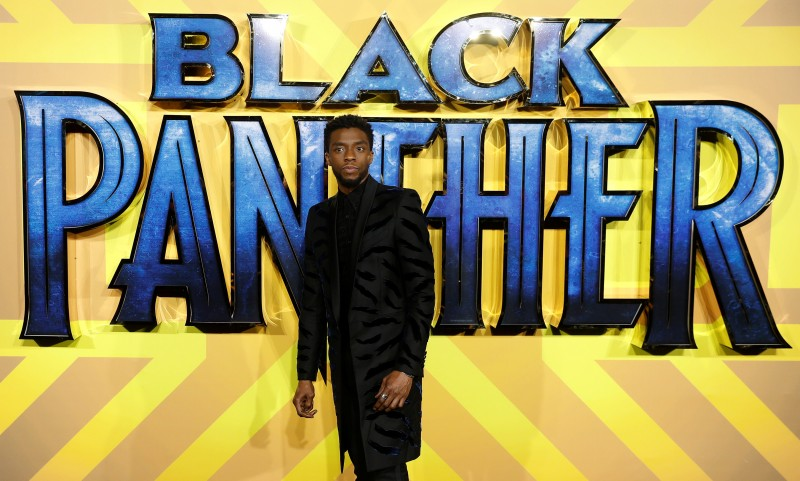 FILE PHOTO: Actor Chadwick Boseman arrives at the premiere of the new Marvel superhero film 'Black Panther' in London, Britain February 8, 2018. REUTERS/Peter Nicholls