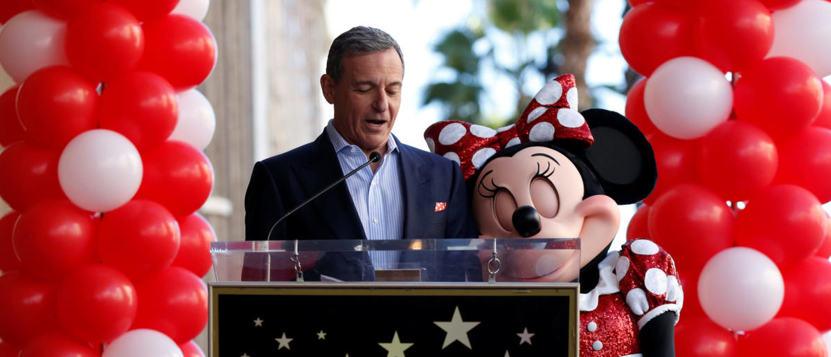 Chairman and CEO of The Walt Disney Company Bob Iger speaks next to the character of Minnie Mouse at the unveiling of her star on the Hollywood Walk of Fame in Los Angeles, California, U.S., January 22, 2018. REUTERS/Mario Anzuoni