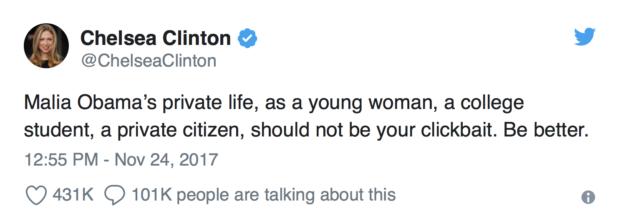 Chelsea Clinton Twitter Screenshot Twitter