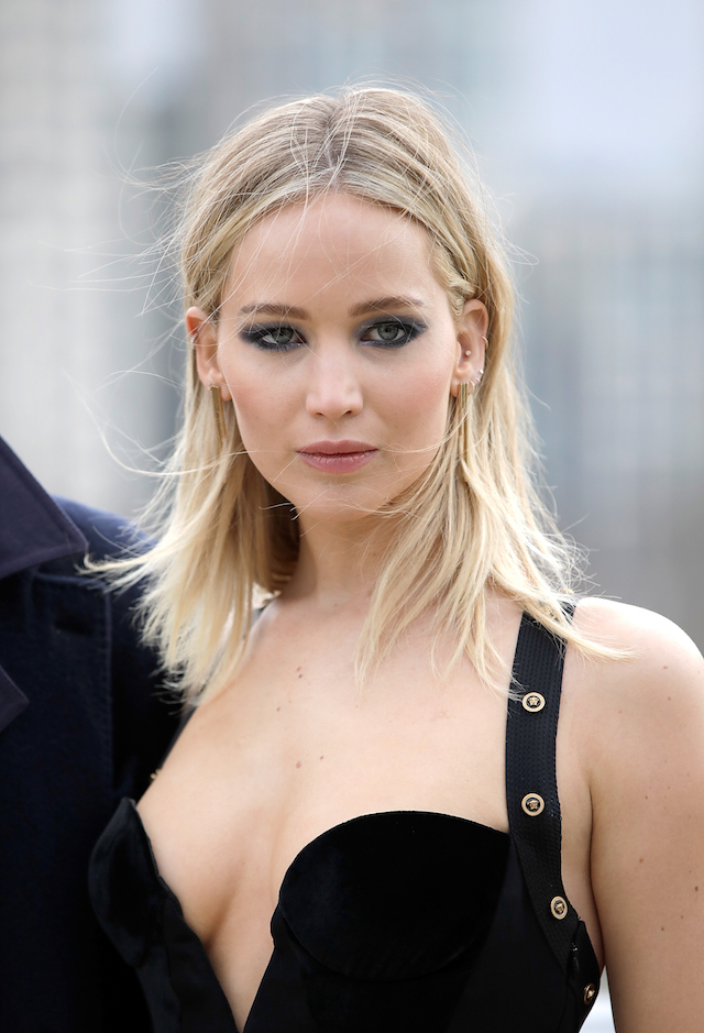 LONDON, ENGLAND - FEBRUARY 20: Jennifer Lawrence during the 'Red Sparrow' photocall at The Corinthia Hotel on February 20, 2018 in London, England. (Photo by John Phillips/John Phillips/Getty Images)