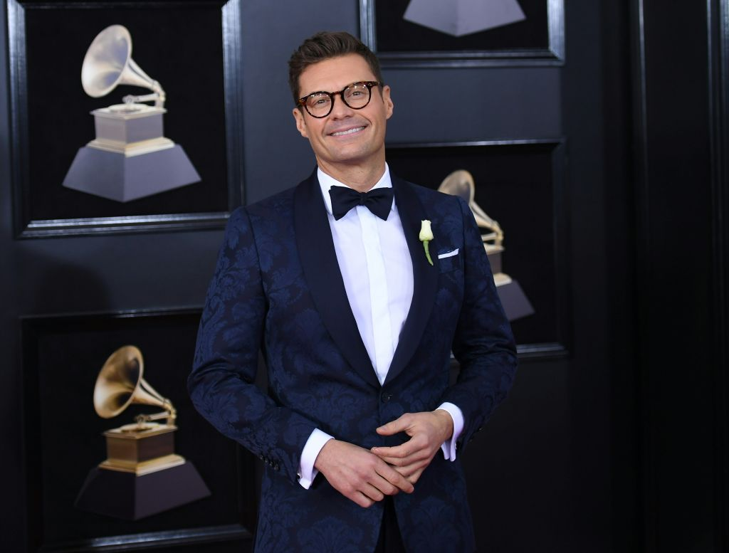 Ryan Seacrest arrives for the 60th Grammy Awards on January 28, 2018, in New York. / AFP PHOTO / ANGELA WEISS (Photo credit should read ANGELA WEISS/AFP/Getty Images)