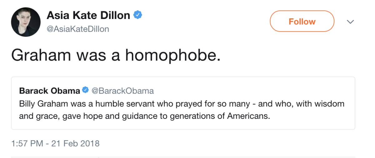 """Graham was a homophobe"""