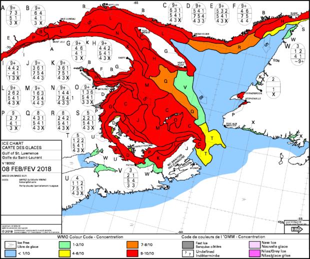 Gulf of Saint Lawrence Sea Ice Chart