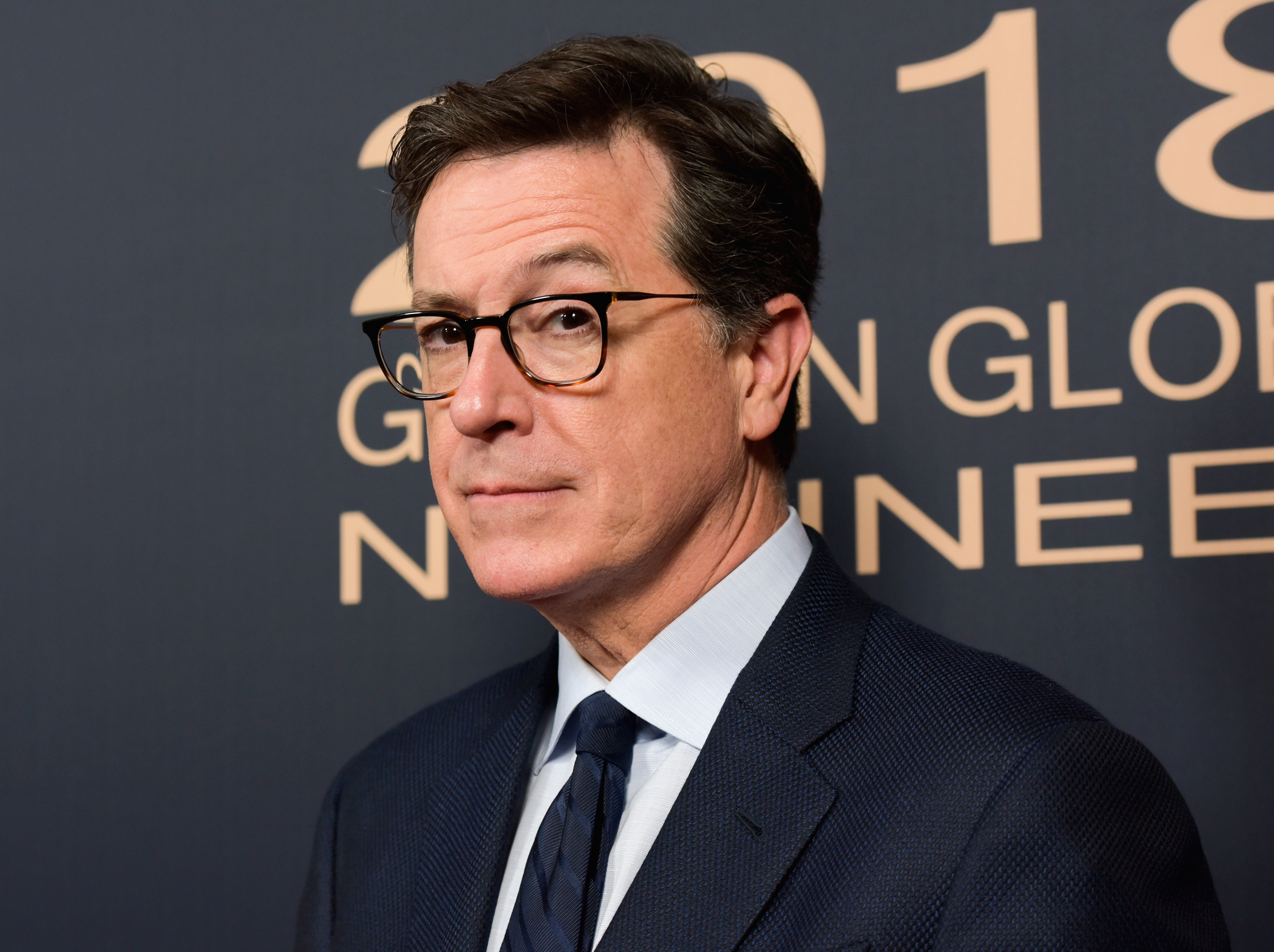 LOS ANGELES, CA - JANUARY 06: Stephen Colbert attends the Showtime Golden Globe Nominees Celebration at Sunset Tower on January 6, 2018 in Los Angeles, California. (Photo by Tara Ziemba/Getty Images)