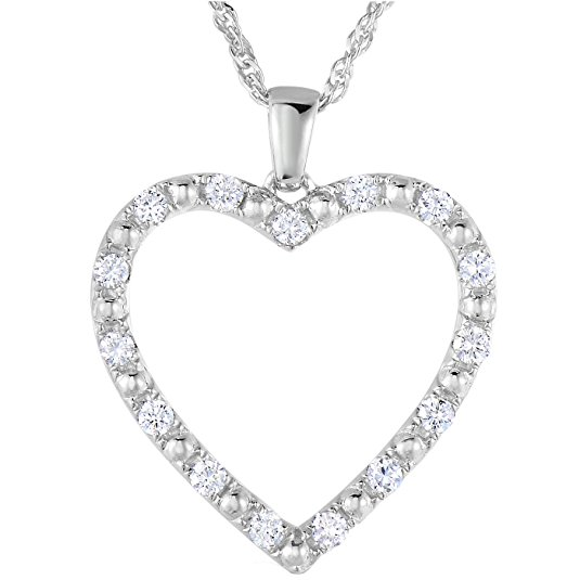 Normally $1,150, this 18k white gold diamond pendant is 70 percent off today (Photo via Amazon)