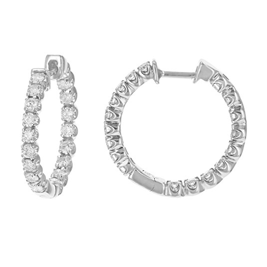 Normally $2,600, these 14k white gold diamond earrings are 54 percent off today (Photo via Amazon)