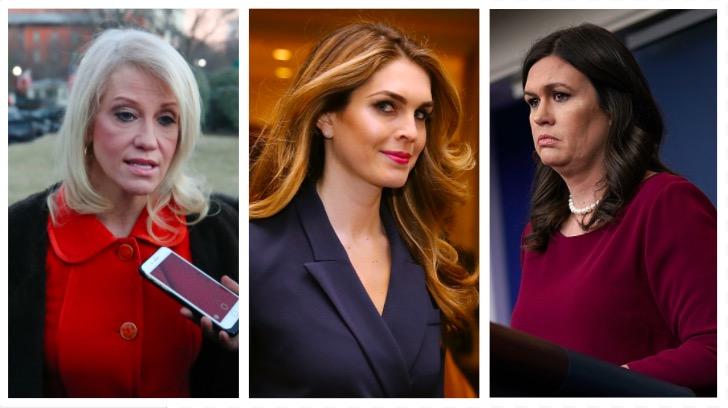 Kellyanne Conway, Hope Hicks, Sarah Sanders (Getty Images)