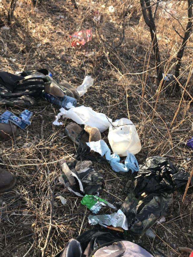 Trash left by illegal entrants. (Photo: House Committee on Natural Resources, Subcommittee on Oversight and Investigations)