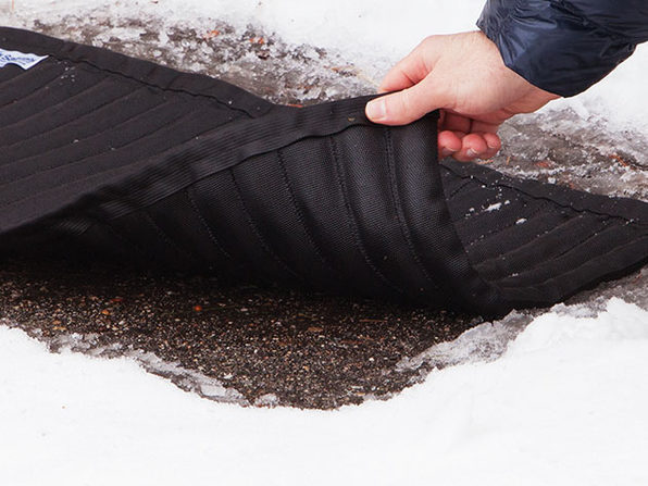 Normally $50, this snow and ice mat is 20 percent off