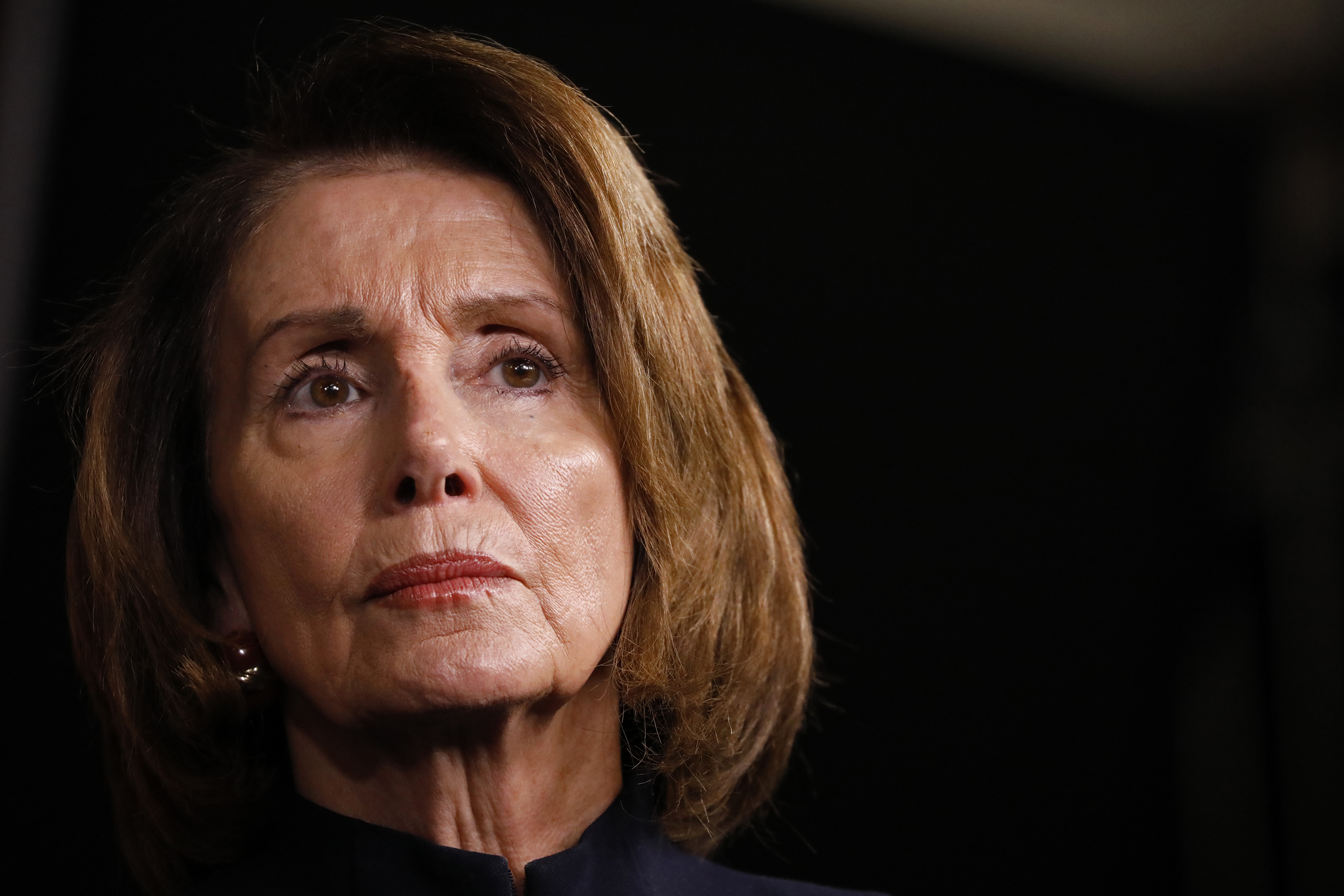 WASHINGTON, DC - FEBRUARY 15: House Minority Leader Nancy Pelosi speaks at her weekly press conference on Capitol Hill on February 15, 2018 in Washington, DC. Pelsoi called on congress to act in the wake of the recent school shooting in Parkland, FL. (Photo by Aaron P. Bernstein/Getty Images)