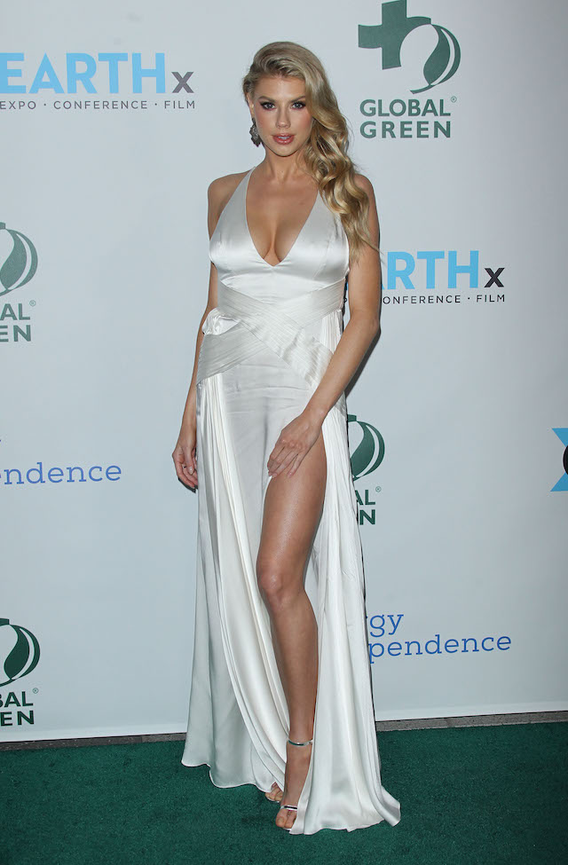 The Academy Awards Global Green Pre Oscars Party Pictured: Charlotte McKinney Picture by: Jen Lowery / Splash News