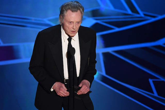 US actor Christopher Walken presents the Oscar for Best Original Score during the 90th Annual Academy Awards show on March 4, 2018 in Hollywood, California. / AFP PHOTO / Mark Ralston (Photo credit should read MARK RALSTON/AFP/Getty Images)