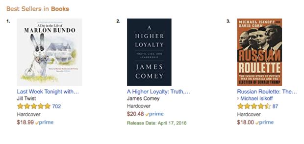 Screenshot Amazon bestselling books Monday March 19