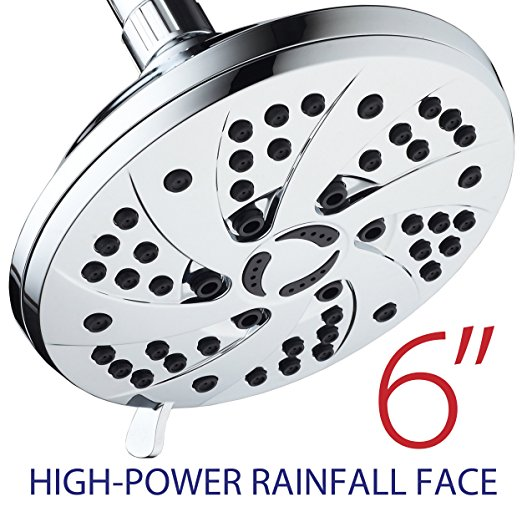 Normally $22, this 6-setting shower head is 27 percent off today (Photo via Amazon)