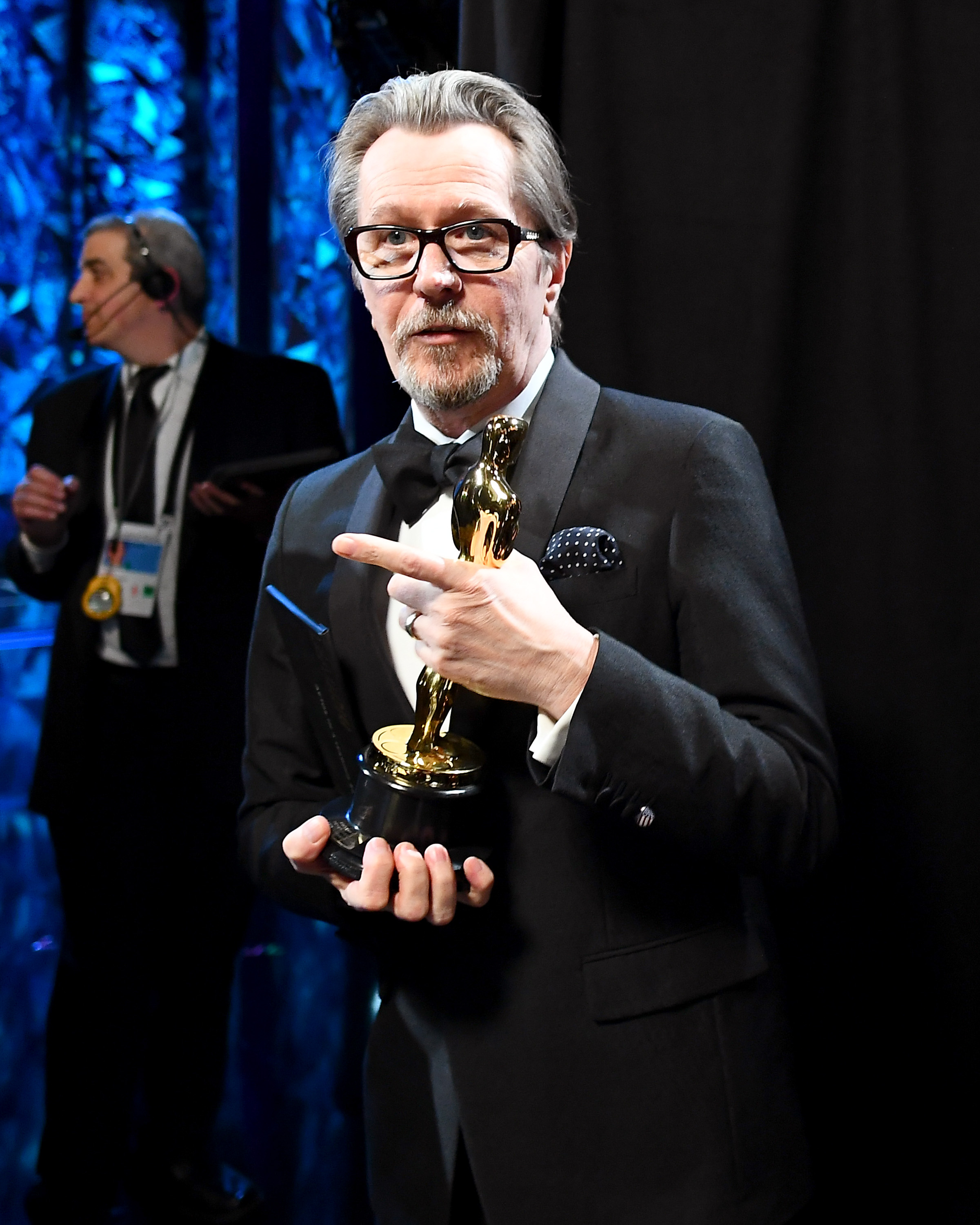 HOLLYWOOD, CA - MARCH 04: In this handout provided by A.M.P.A.S., Gary Oldman attends the 90th Annual Academy Awards at the Dolby Theatre on March 4, 2018 in Hollywood, California. (Photo by Matt Petit/A.M.P.A.S via Getty Images)