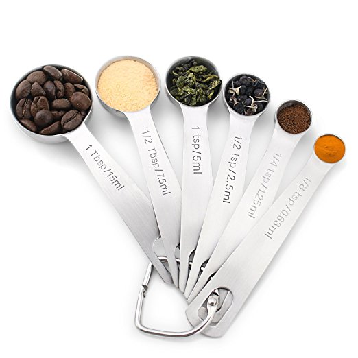 Normally $25, these 6 measuring spoons are 60 percent off (Photo via Amazon)