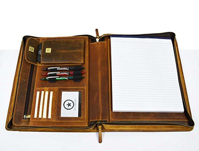 Normally $135, this leather portfolio and professional organizer is 53 percent off today (Photo via Amazon)