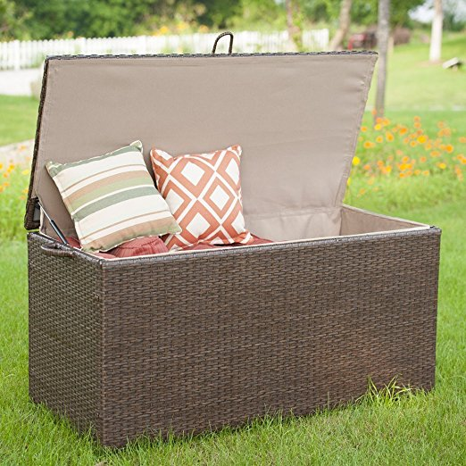 Normally $280, this patio storage container is 48 percent off today (Photo via Amazon)