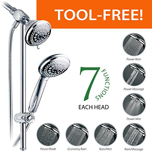 Normally $52, this multi-shower slide bar is 33 percent off today (Photo via Amazon)