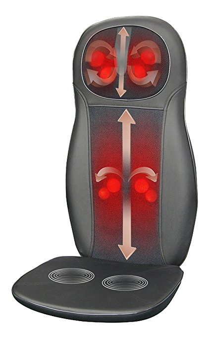 Normally $250, this shiatsu neck and back cushion is 49 percent off today (Photo via Amazon)