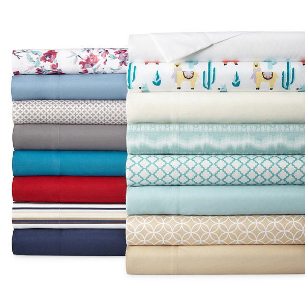 Normally $30, this sheet set is 75 percent off today with this code (Photo via JC Penney)