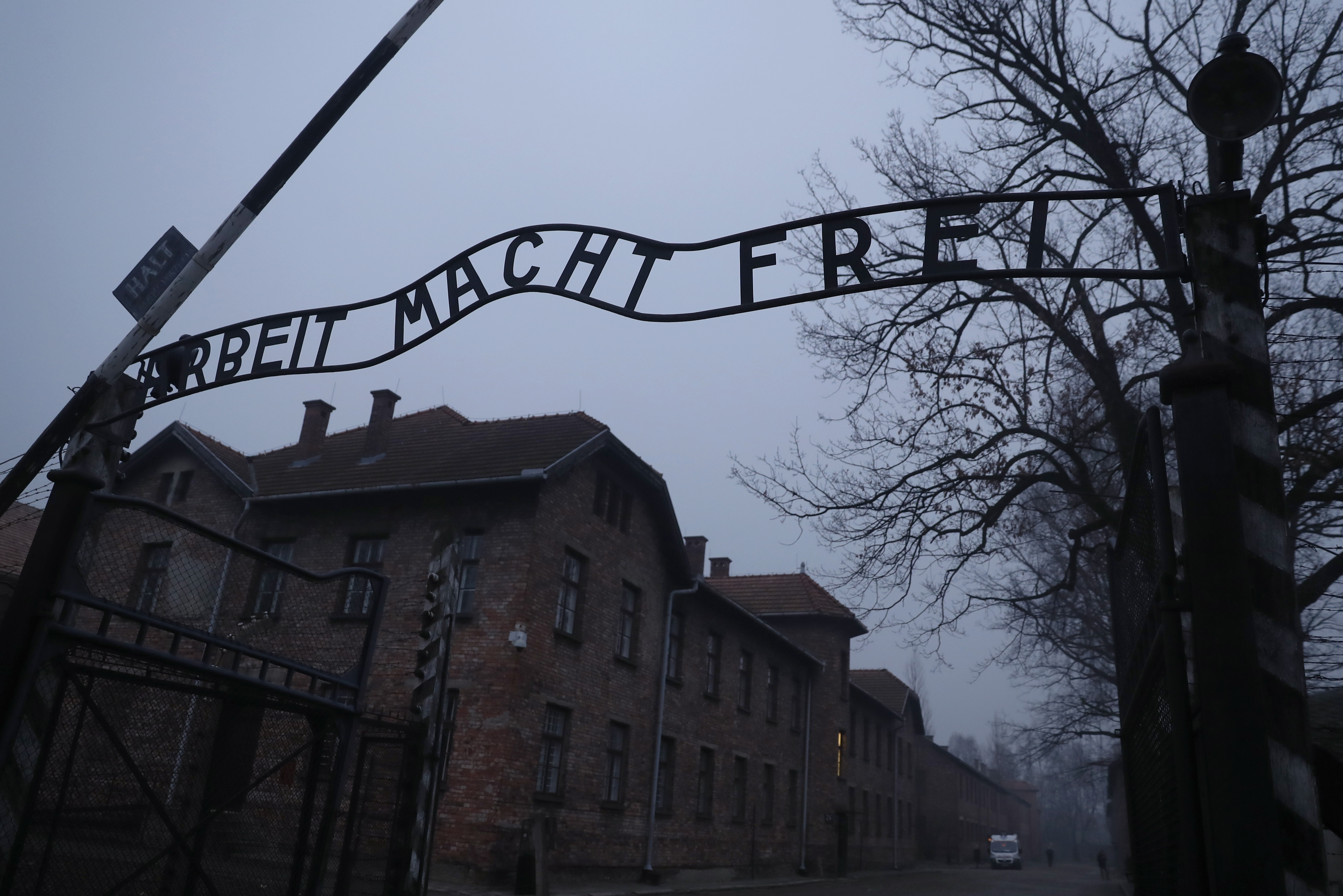 "The ""Arbeit Macht Frei"" gate at the former Nazi German concentration and extermination camp Auschwitz reads, ""Work will set you free."" [REUTERS/Kacper Pempel]"
