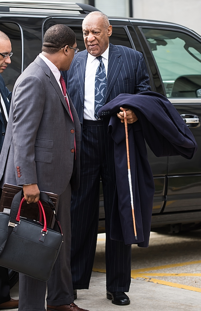 Bill Cosby is seen during the third day of his sexual assault retrial in Norristown, PA Pictured: Bill Cosby Picture by: Ouzounova/Splash News