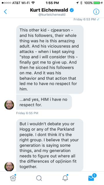 Here Are The Direct Messages Between Parkland Student Kyle