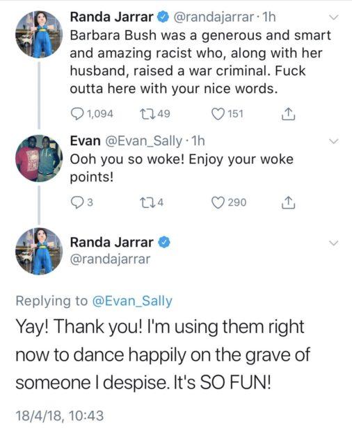 Liberal College Professor Calls Barbara Bush 'Racist