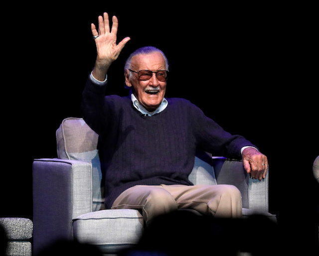"Marvel Comics co-creator Stan Lee attends a tribute event ""Extraordinary: Stan Lee"" at the Saban Theatre in Beverly Hills, California, U.S., August 22, 2017. REUTERS/Mario Anzuoni - RC17A73DF4E0"