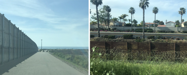 Infrastructure of the border in Southern California. (Morgan Murtaugh)
