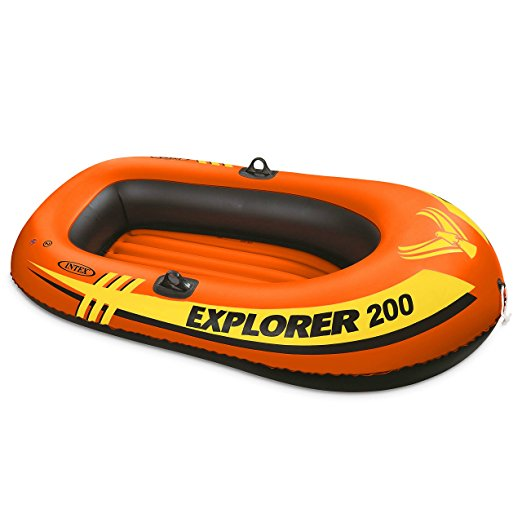 Normally $25, this inflatable boat is 61 percent off today (Photo via Amazon)