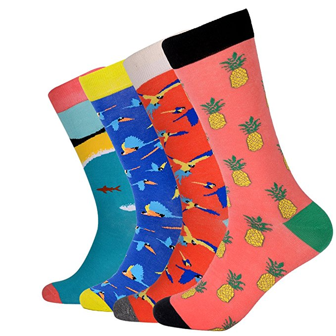 Normally $20, this 4-pack of casual socks is 44 percent off today (Photo via Amazon)