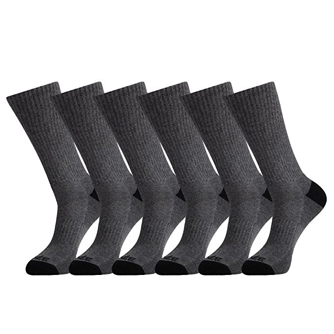 Normally $22, this 6-pack of athletic socks is 43 percent off today (Photo via Amazon)
