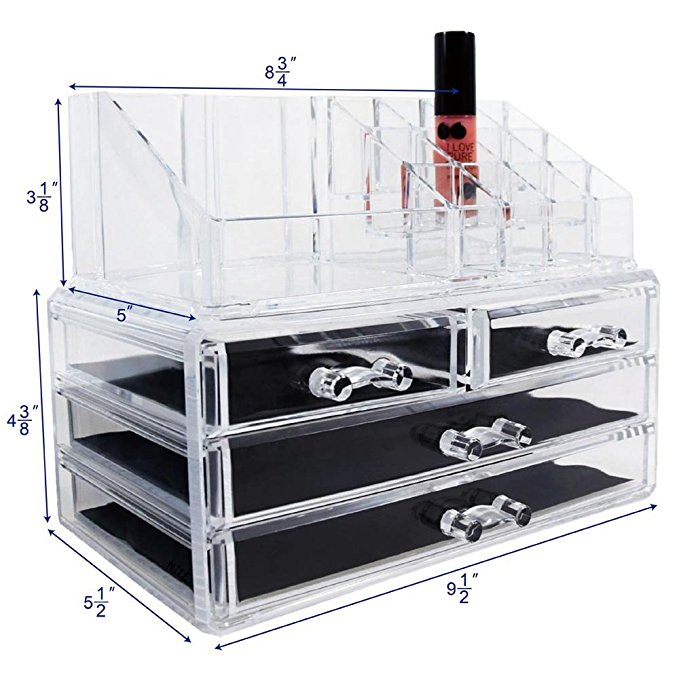 This #1 bestselling makeup organizer is only $14.25 (Photo via Amazon)