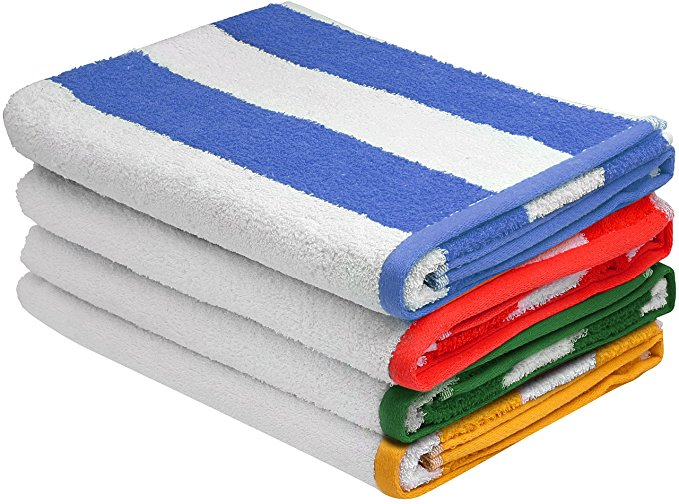 Normally $60, this 4-pack of beach towels is 50 percent off today (Photo via Amazon)