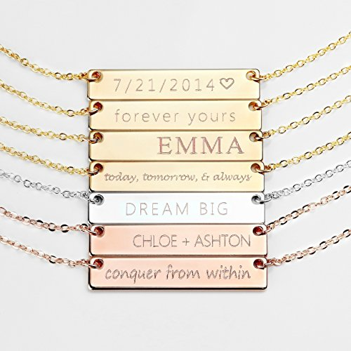 Normally $25, these name plate necklaces are 20 percent off (Photo via Amazon)