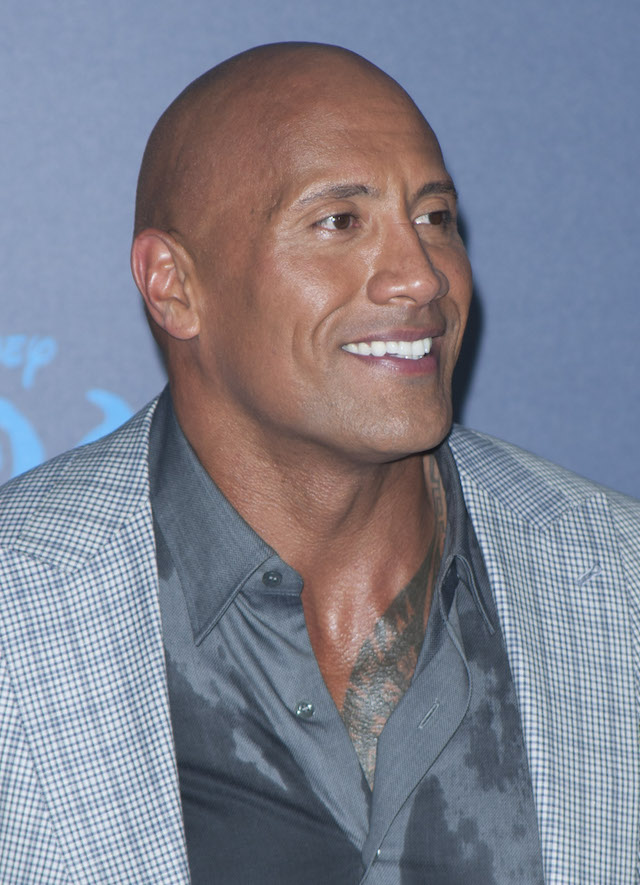 "Actor Dwayne Johnson attends the Disney Premiere ""Moana"" in Hollywood, California, on November 14, 2016. / AFP / LILLY LAWRENCE (Photo credit should read LILLY LAWRENCE/AFP/Getty Images)"