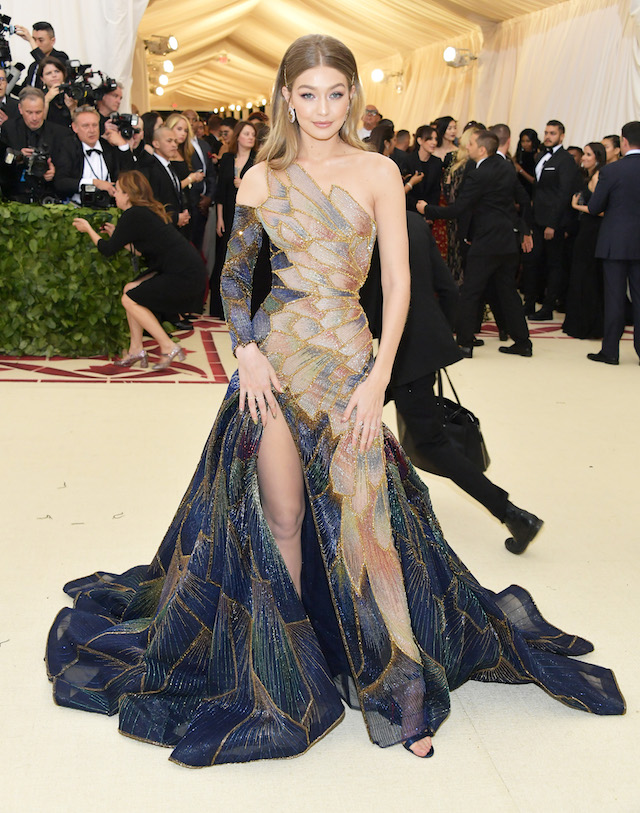 Gigi Hadid attends the Heavenly Bodies: Fashion & The Catholic Imagination Costume Institute Gala at The Metropolitan Museum of Art on May 7, 2018 in New York City. (Photo by Neilson Barnard/Getty Images)