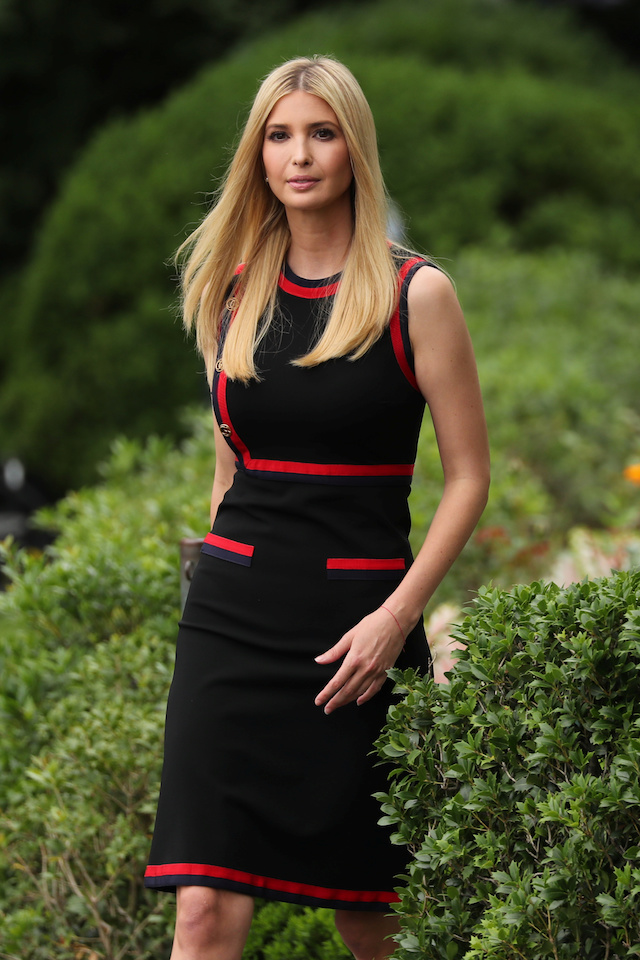 Ivanka Looks Ready For Summer In Sleeveless Black Dress At ...